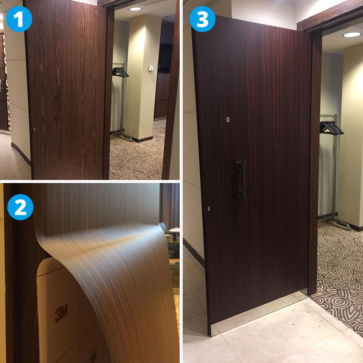 Riqualificazione di porte in albergo StarHotel in Milano